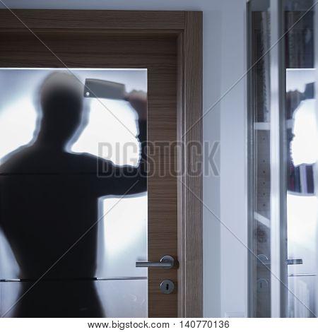 Crime Scene Behind A Closed Door
