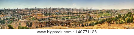 View of the Temple Mount in Jerusalem - Israel