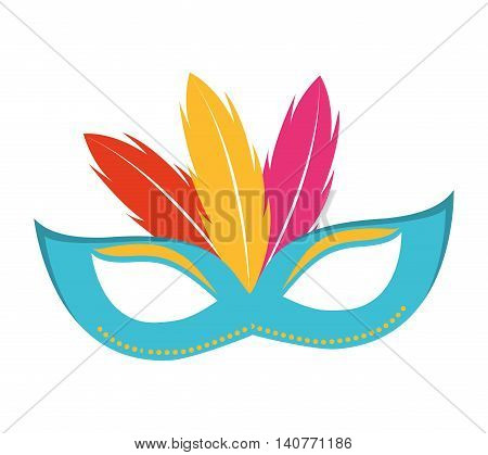 mask fool funny icon vector illustration design