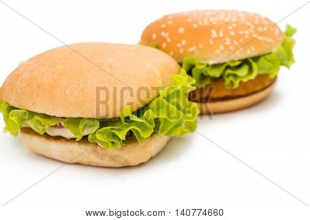 hamburger  american fastfood on a white background