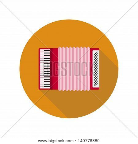 Accordion isolated on background. Accordion flat icon. Accordion closeup