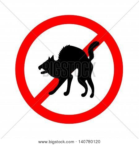 No animals sign, do not allowed on white background