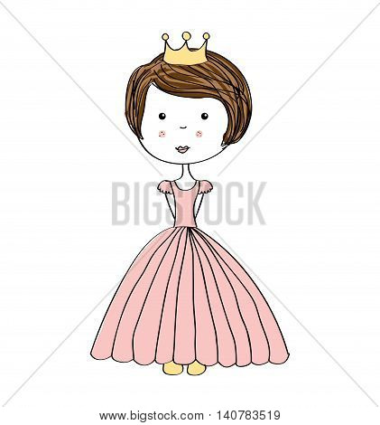 princes drawn crown icon vector illustration design