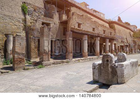 The Ruins Of Herculaneum Excavation