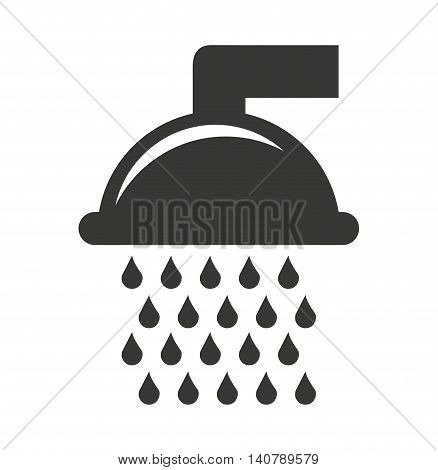 shower drops water icon vector illustration design