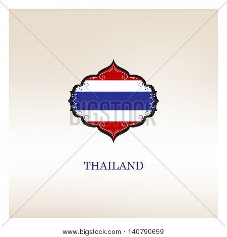 flag of Thailand. Vector element for design. Vector illustration.