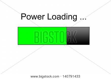power loading Progress bar design, red loading icon