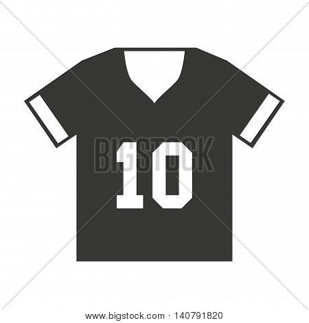 shirt captain football american sport vector illustration icon design