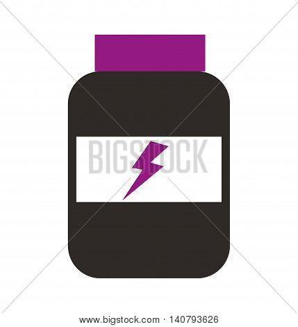 protein bottle energy icon vector illustration design