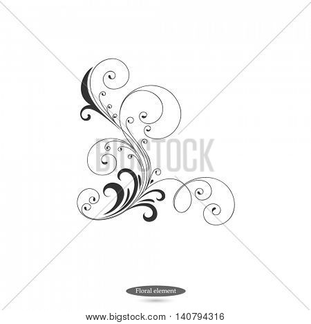 Flower abstract elements for design.  Vector illustration.