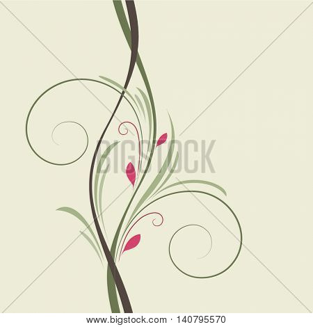 Beautiful abstract floral background. Vector illustration. Element for design.