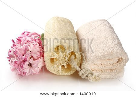 Natural Sponge And Terry Towel