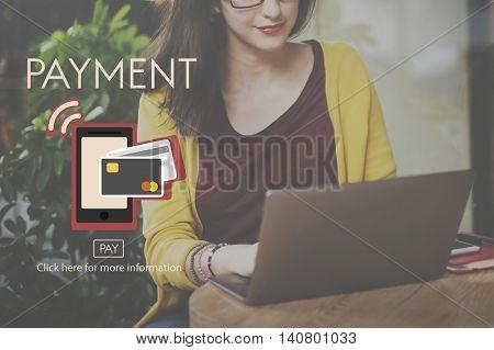 Payment NFC Near Field Communication Mobiel Wallet Online Concept