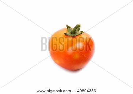 One Tomato With Green Stem