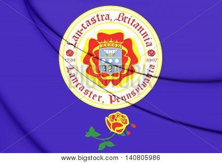 Flag Of Lancaster (pennsylvania), Usa. 3D Illustration.