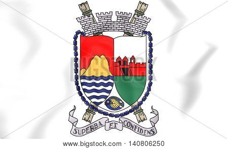Sint Eustatius Coat Of Arms. 3D Illustration.