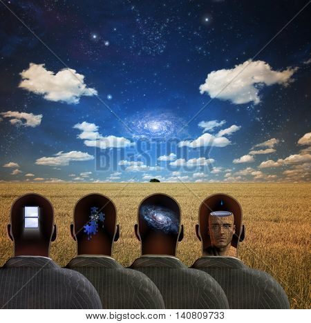 Four Minds  3D Render Elements of this image furnished by NASA