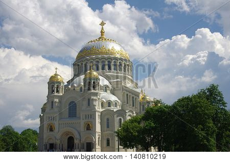 Naval cathedral in Kronshtadt Saint Petersburg Russia