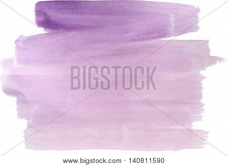 abstract watercolor handpaint violet textured background, isolated
