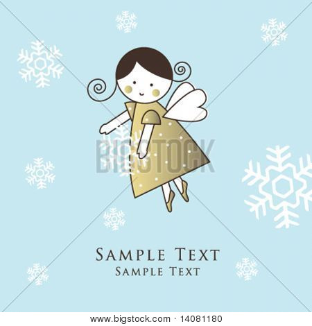 New year's card with angel