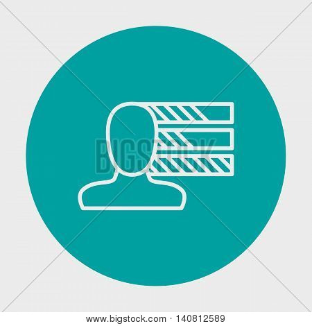 Vector Illustration Of Project Management Personal Skills Icon.