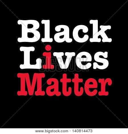 Black lives matter with I matter slogan inserted