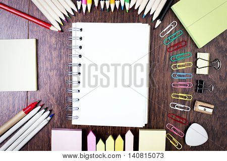 Notepad And Various Supplies