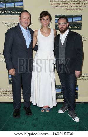 LOS ANGELES - JUL 30:  Kevin Spacey, Maggie Gyllenhaal, Dana Brunetti at the Jameson's