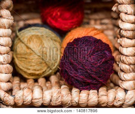 Balls Of Wool Closeup
