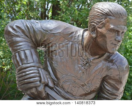 MONTREAL CANADA JULY 30 2016: The statue of Maurice