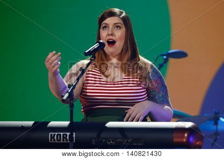 NEW  YORK-NOV 13: Mary Lambert performs on stage during VH1's 2nd Annual 'You Oughta Know Live In Concert' 2014 at Hammerstein Ballroom on November 13, 2014 in New York City.