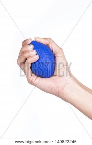 Hand of a woman holding a stress ball