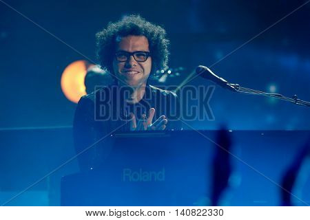 NEW  YORK-NOV 13: Chad Vaccarino of A Great Big World performs on stage during VH1's 2nd Annual 'You Oughta Know Live In Concert' 2014 at Hammerstein Ballroom on November 13, 2014 in New York City.
