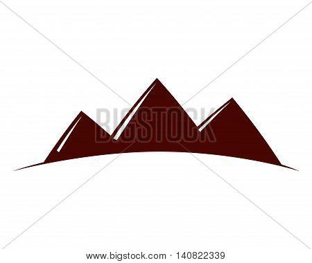 pyramids desert landscape icon vector illustration design