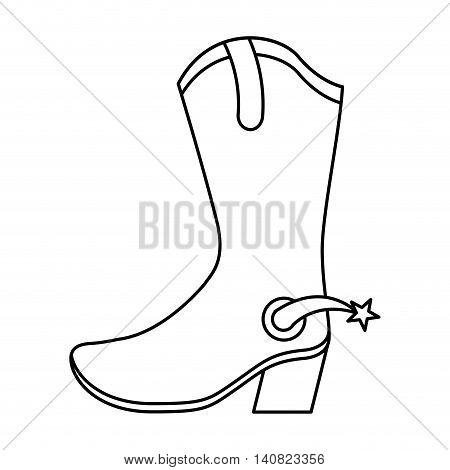 boots cowboy wild west graphic isolated vector