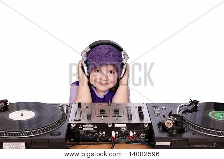 little girl dj