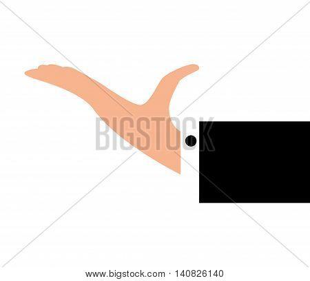hand waiter restaurant icon vector illustration design