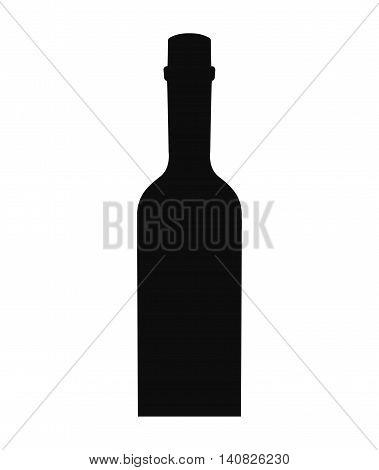 wine bottle drink beverage silhouette icon vector illustration design