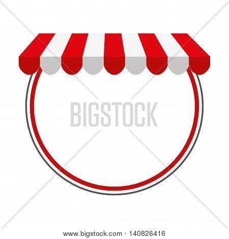 parasol store shop icon vector illustration design