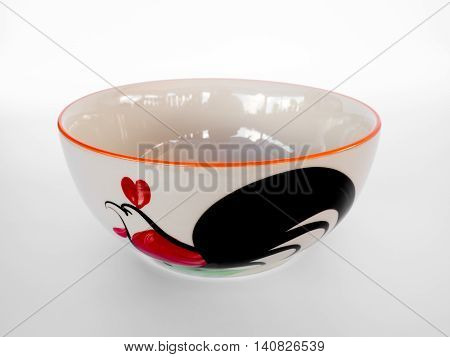 Earthenware,cup - for food Thailand. isolated on white background.