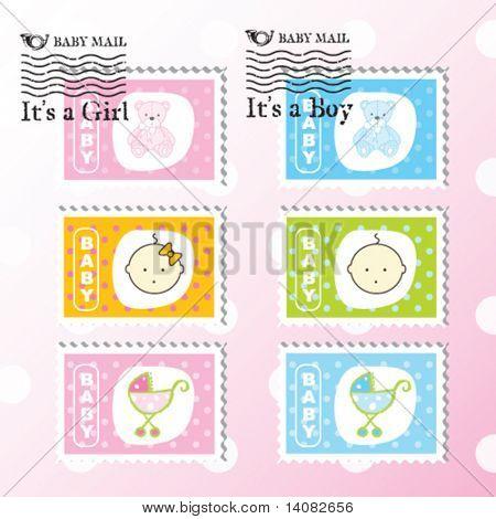 Baby-Briefmarken