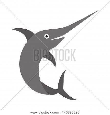 fish animal aquatic icon vector illustration design