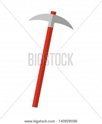 pick tool construction icon vector illustration design