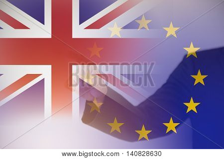 Background concept for Britain leaves Europe with copy space for your text