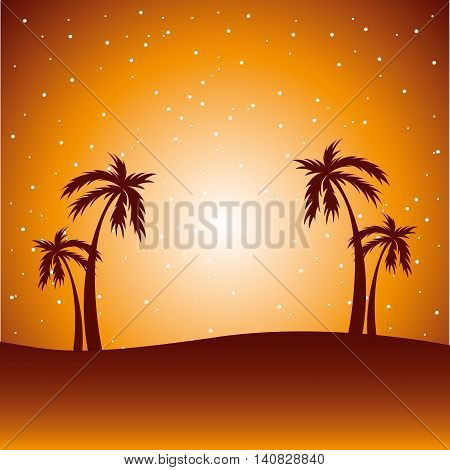 desert landscape background icon vector illustration design