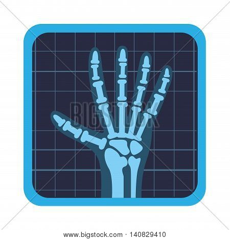 x rays test icon vector illustration design