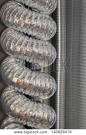 Ventilation and Ducting Pipes and Hoses With Aluminium Isolation