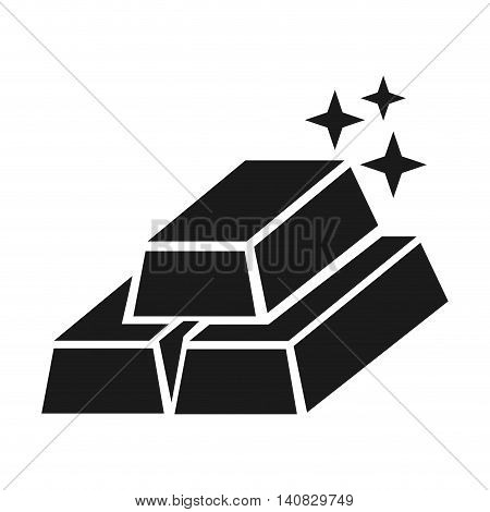 gold ingots silhouette icon vector illustration design