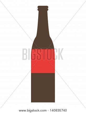 flat design glas bottle icon vector illustration