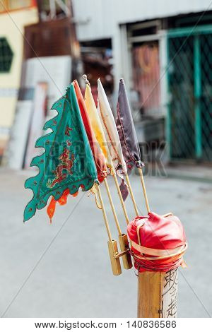 Prayer flag in George Town Penang Malaysia.